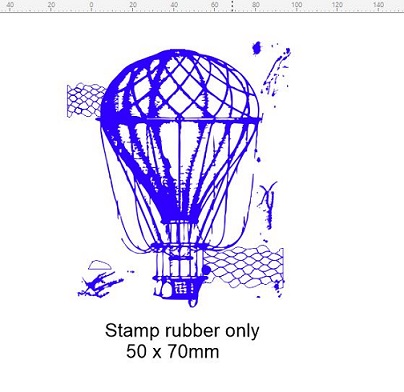 Vintage balloon stamp 50 x 60 mm